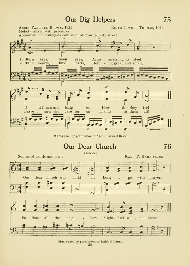 A First Book in Hymns and Worship page 59