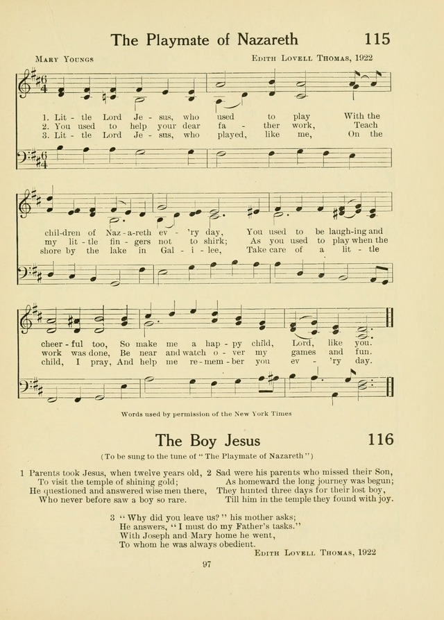 A First Book in Hymns and Worship page 97