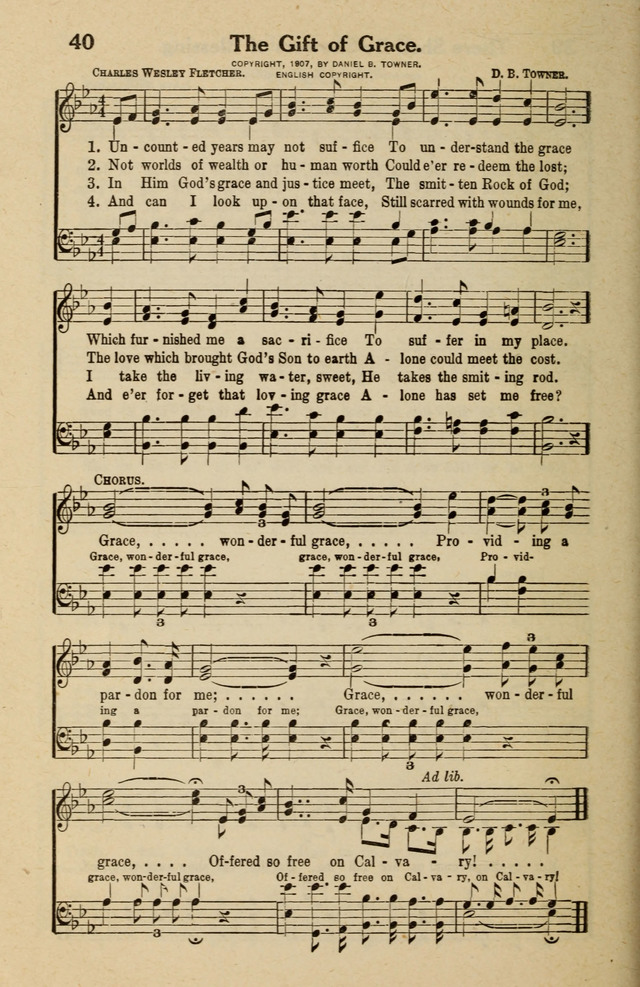 Famous Gospel Hymns page 40