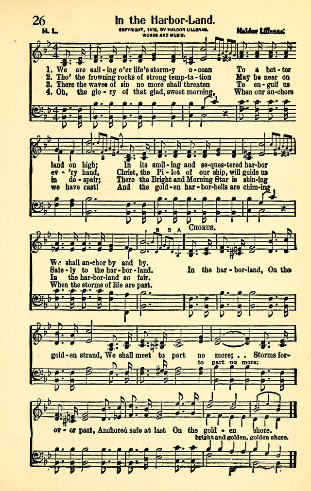 Favorite Gospel Songs 26  We are sailing o'er life's stormy