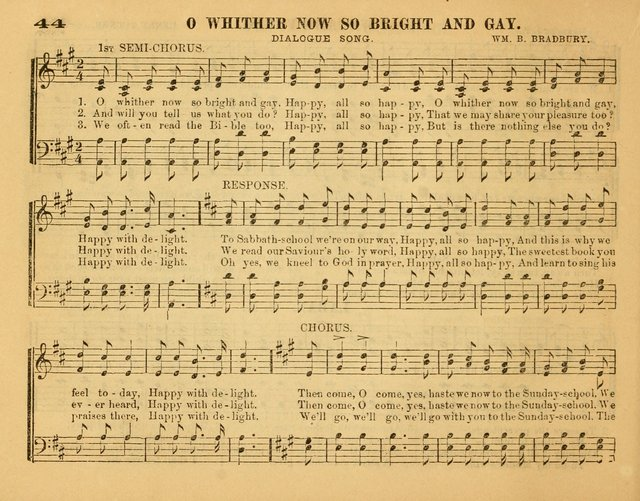 Fresh Laurels for the Sabbath School, A new and extensive collection of music and hymns. Prepared expressly for the Sabbath Schools, Etc. page 49