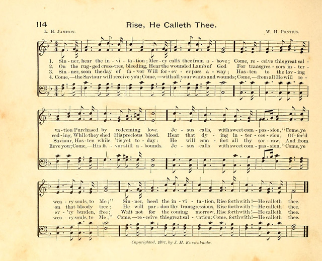 Fair as the Morning. Hymns and Tunes for Praise in the Sunday-School page 112