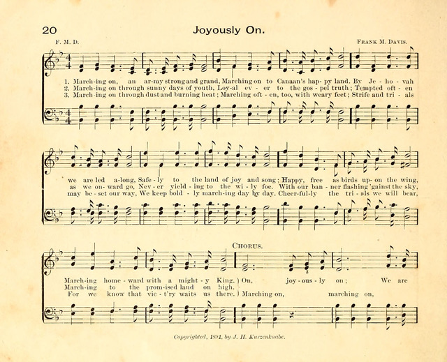 Fair as the Morning. Hymns and Tunes for Praise in the Sunday-School page 18