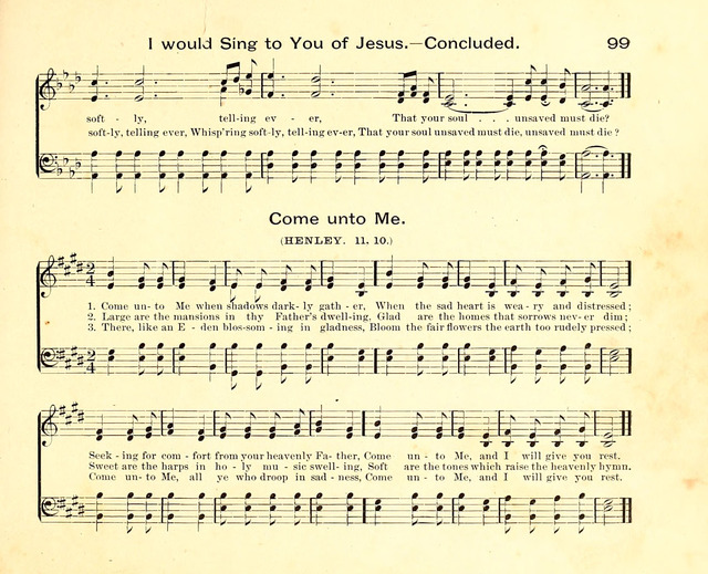 Fair as the Morning. Hymns and Tunes for Praise in the Sunday-School page 97
