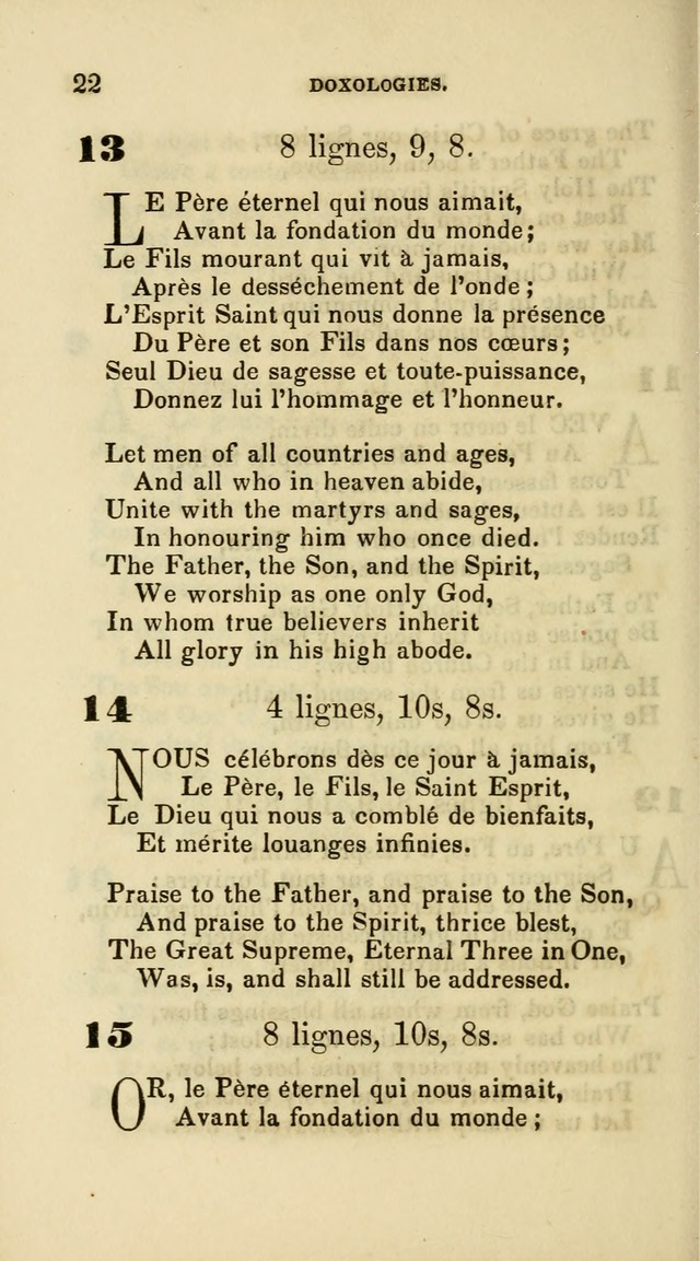 French Psalms, Hymns and Spiritual Songs: with a pure prose pronunciation, in accordance with the usage of the cognate languages... page 25