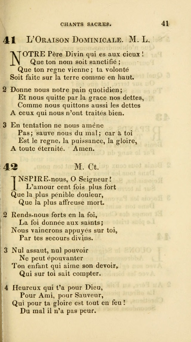 French Psalms, Hymns and Spiritual Songs: with a pure prose pronunciation, in accordance with the usage of the cognate languages... page 44
