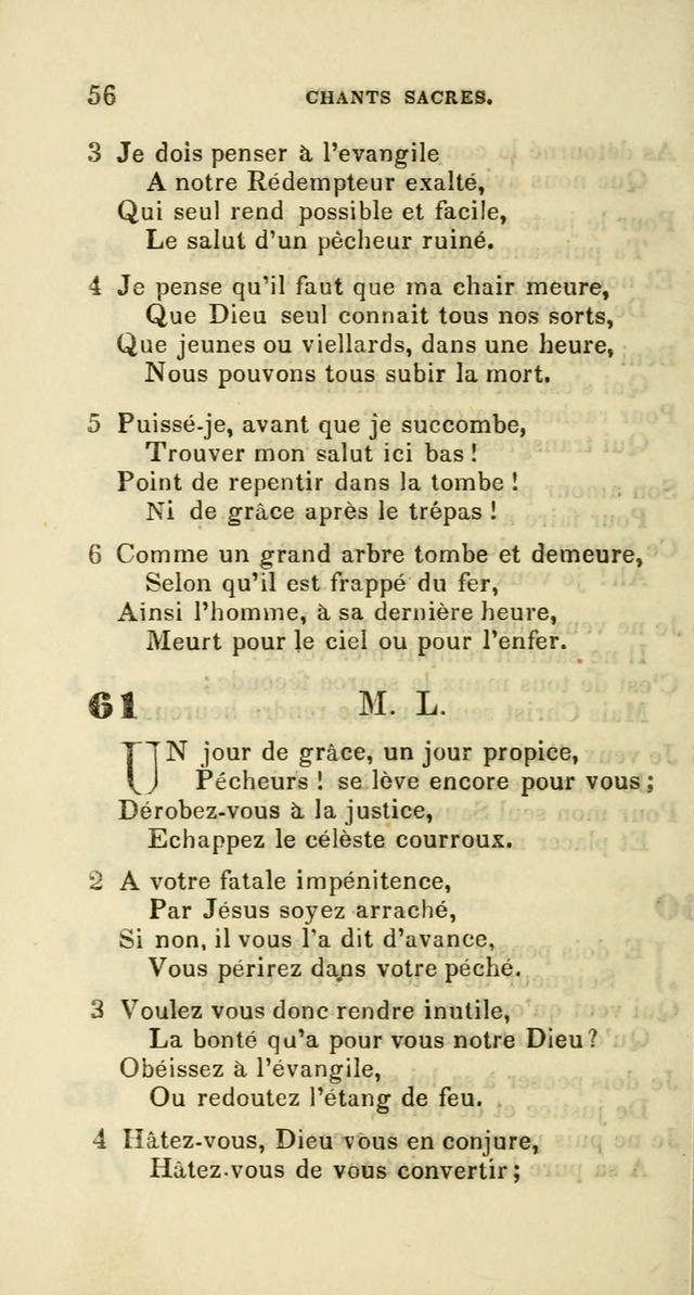 French Psalms, Hymns and Spiritual Songs: with a pure prose pronunciation, in accordance with the usage of the cognate languages... page 59