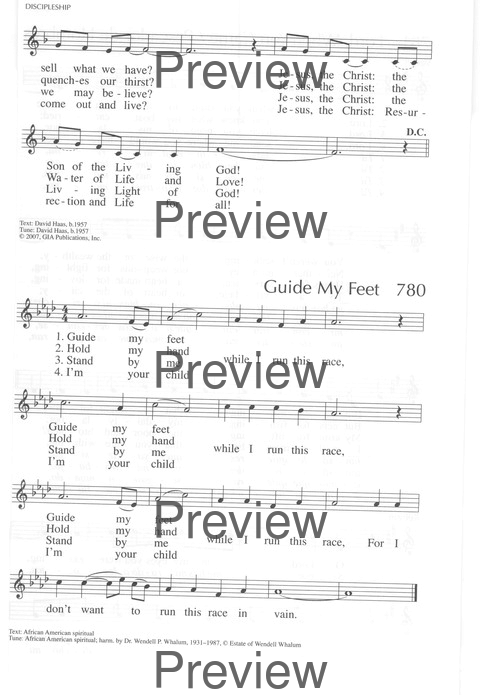 Guide My Feet Hymnary