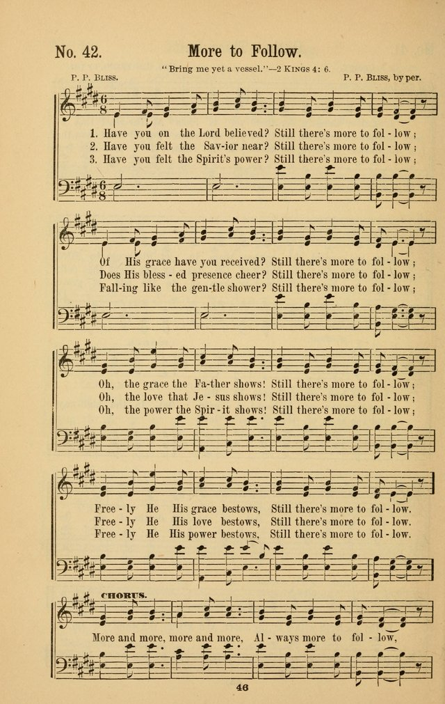 The Great Awakening: a choice collection of new and standard gospel songs page 48