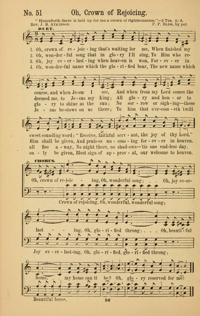 The Great Awakening: a choice collection of new and standard gospel songs page 58