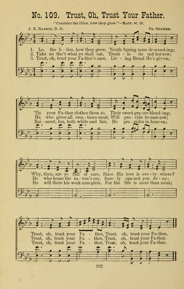 Gospel Bells: a collection of new and popular songs for the use of Sabbath schools and gospel meetings page 102