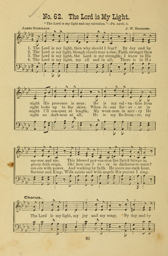 Gospel Bells: a collection of new and popular songs for the use of Sabbath schools and gospel meetings page 62