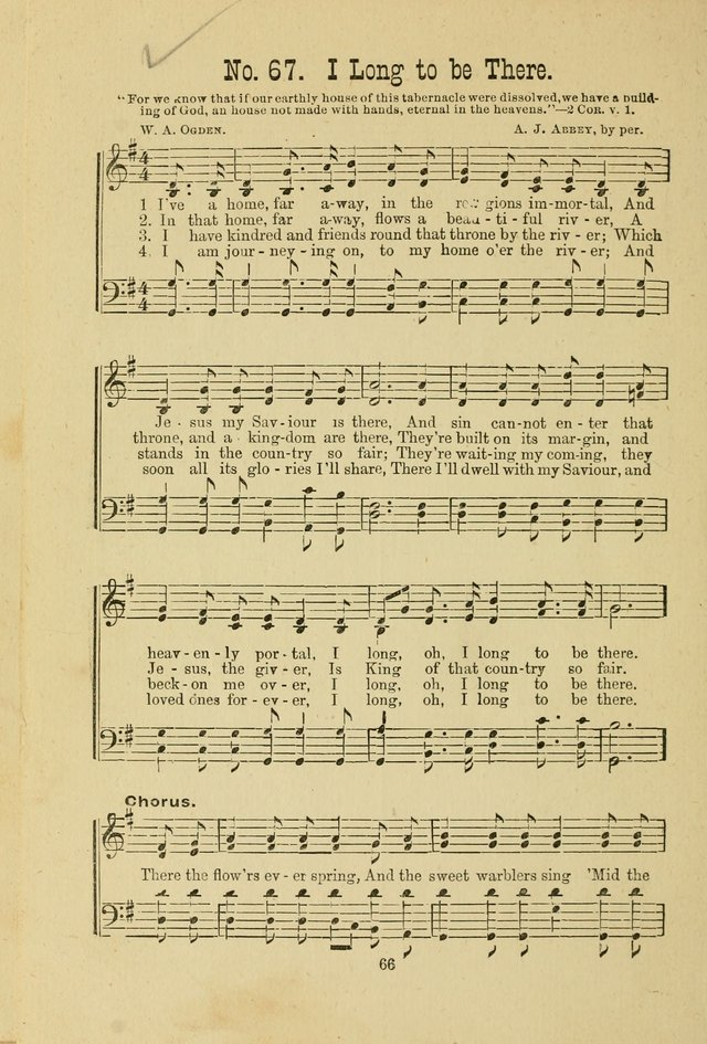 Gospel Bells: a collection of new and popular songs for the use of Sabbath schools and gospel meetings page 66