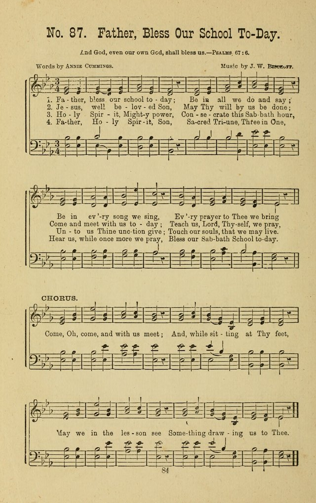 Gospel Bells: a collection of new and popular songs for the use of Sabbath schools and gospel meetings page 84