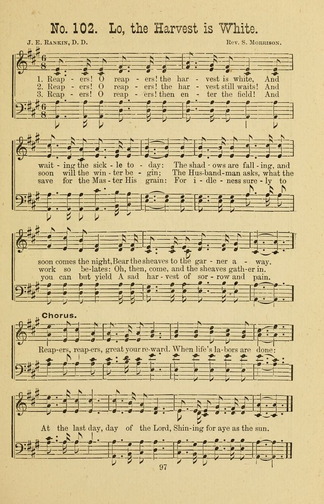 Gospel Bells: a collection of new and popular songs for the use of Sabbath schools and gospel meetings page 97