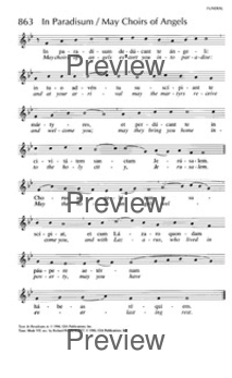 May choirs of angels escort you into paradise] | Hymnary org