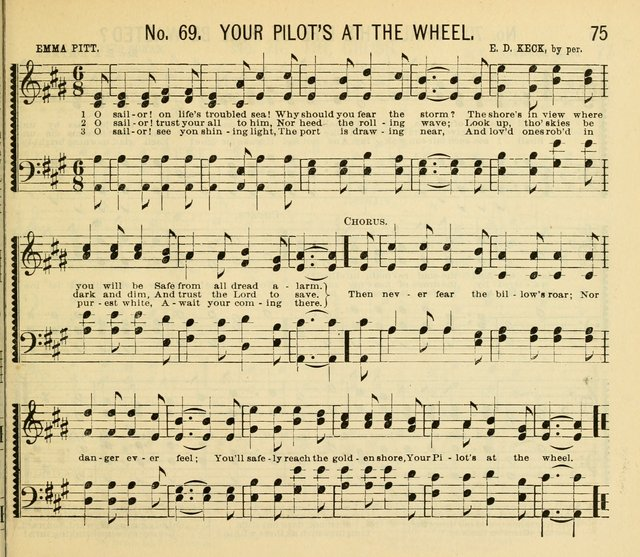 Grace and Glory: a choice collection of sacred songs, original and selected, for Sabbath-schools, revivals, etc. page 75