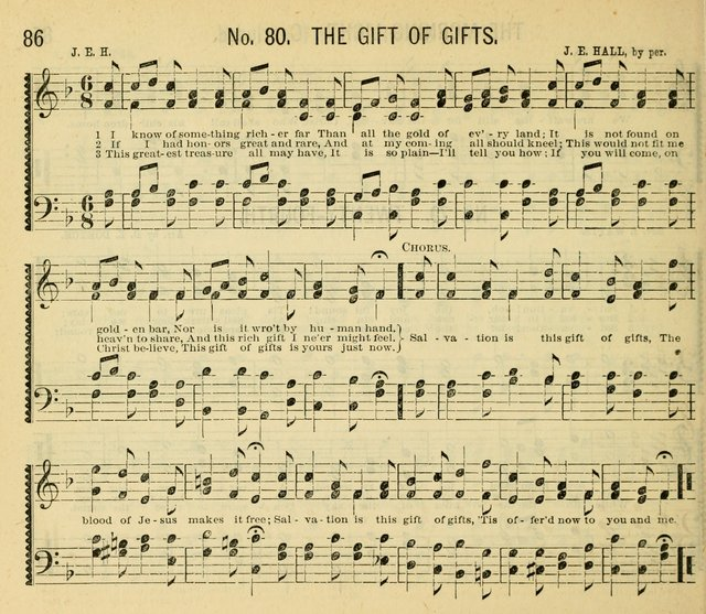 Grace and Glory: a choice collection of sacred songs, original and selected, for Sabbath-schools, revivals, etc. page 86