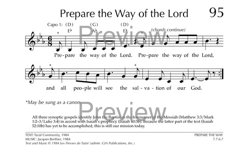 Prepare The Way Of The Lord Hymnary