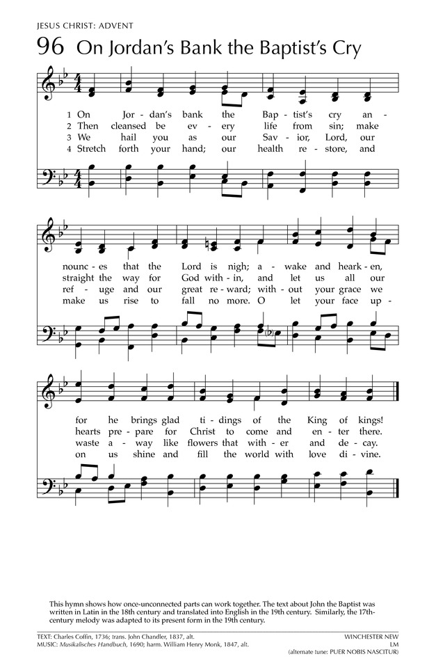 Glory to God: the Presbyterian Hymnal page 164