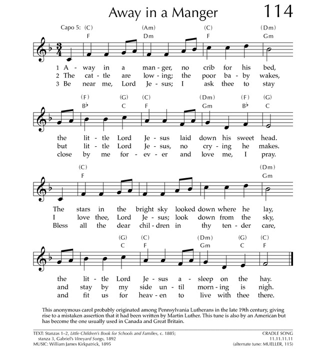 Banjo Tabs Away In A Manger Music Sheets Chords Tablature And