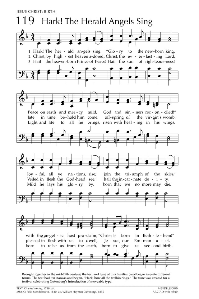 Hark! The Herald Angels Sing - Hymnary.org