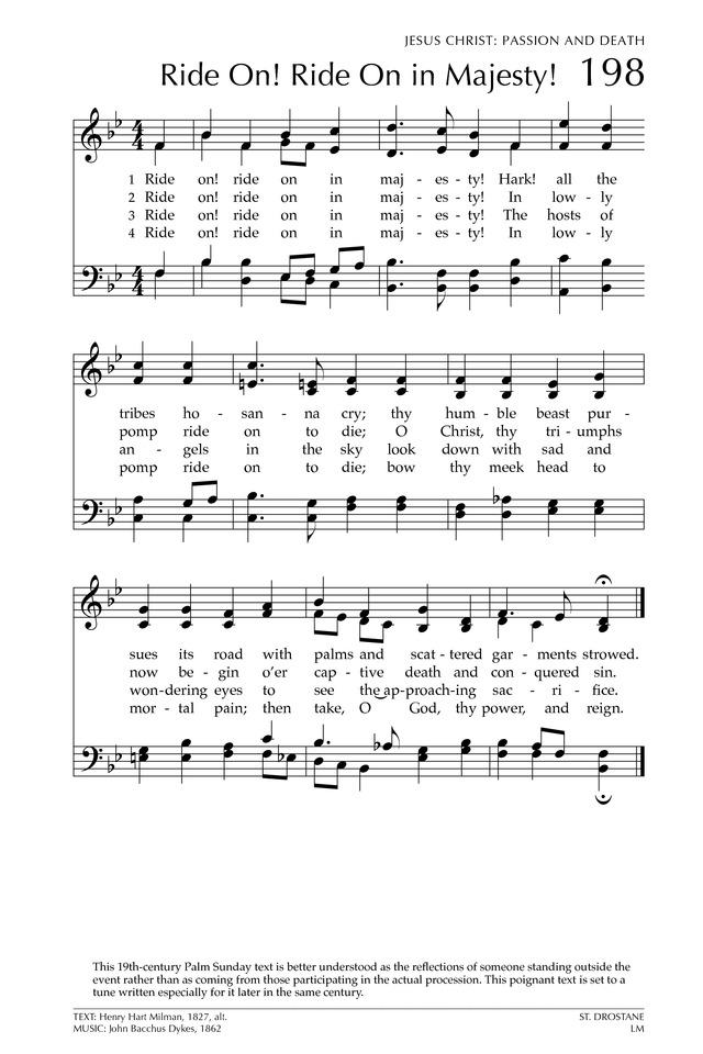 Lyric lyrics to majesty : ST. DROSTANE (Dykes)   Hymnary.org