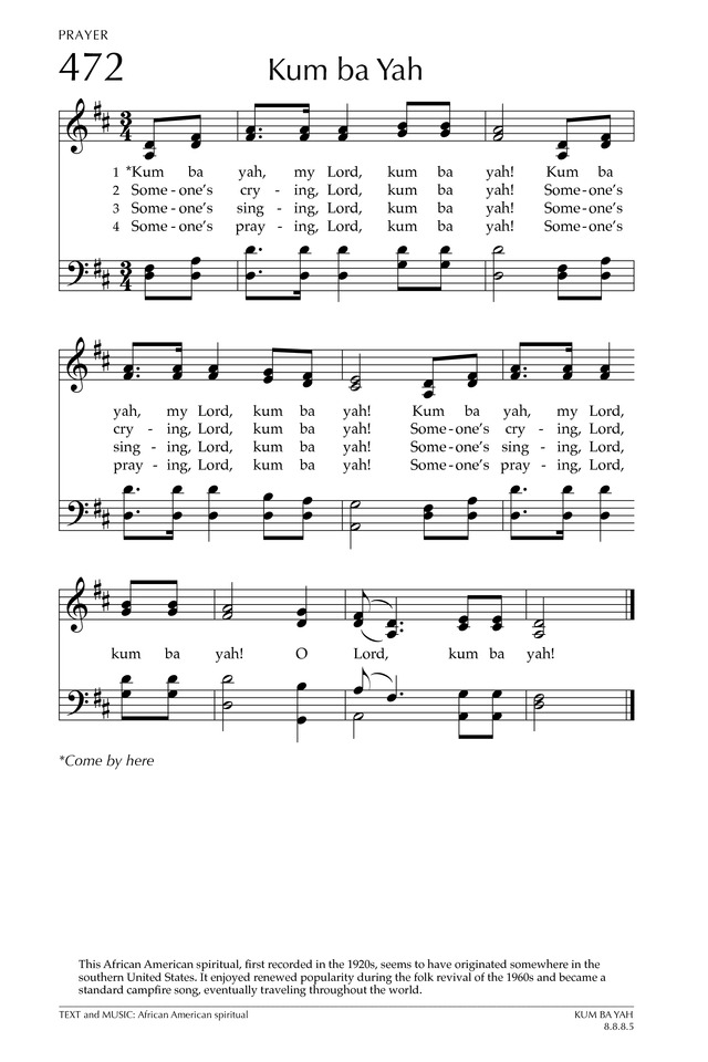 Kum Ba Yah | Hymnary.org