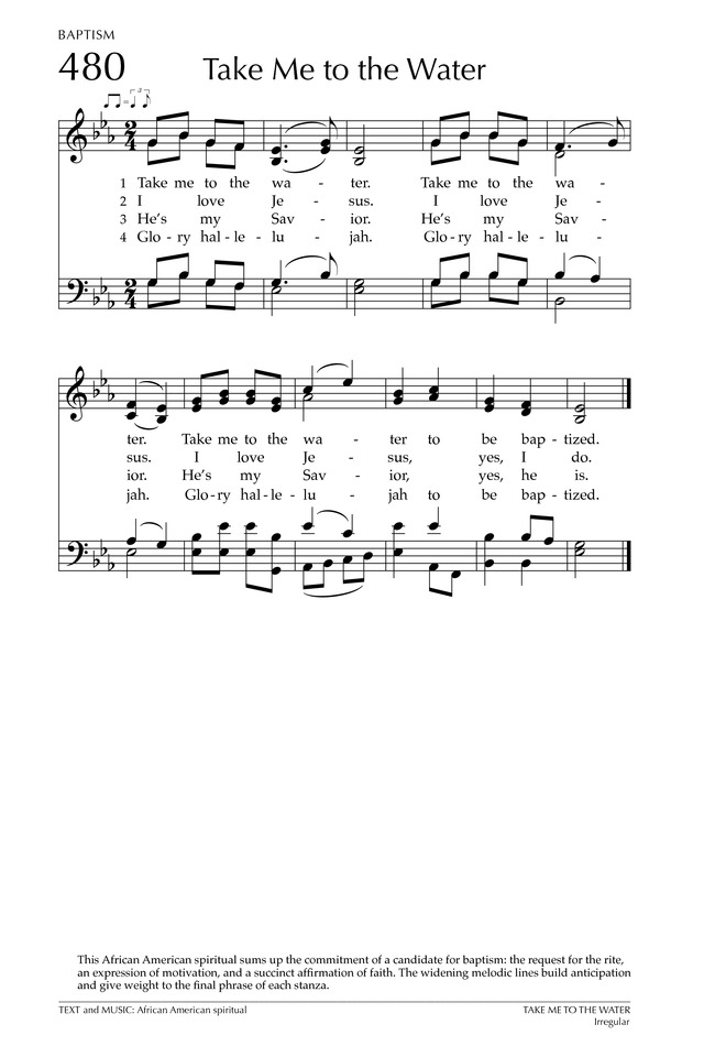 TAKE ME TO THE WATER | Hymnary.org