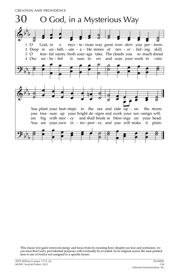 Glory to God: the Presbyterian Hymnal page 85