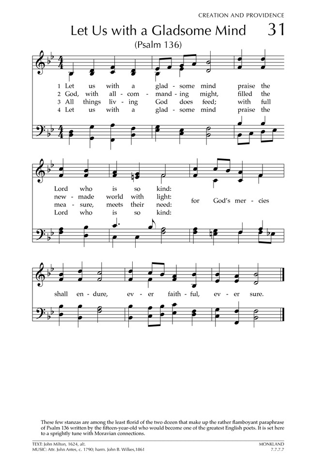 Glory to God: the Presbyterian Hymnal page 86