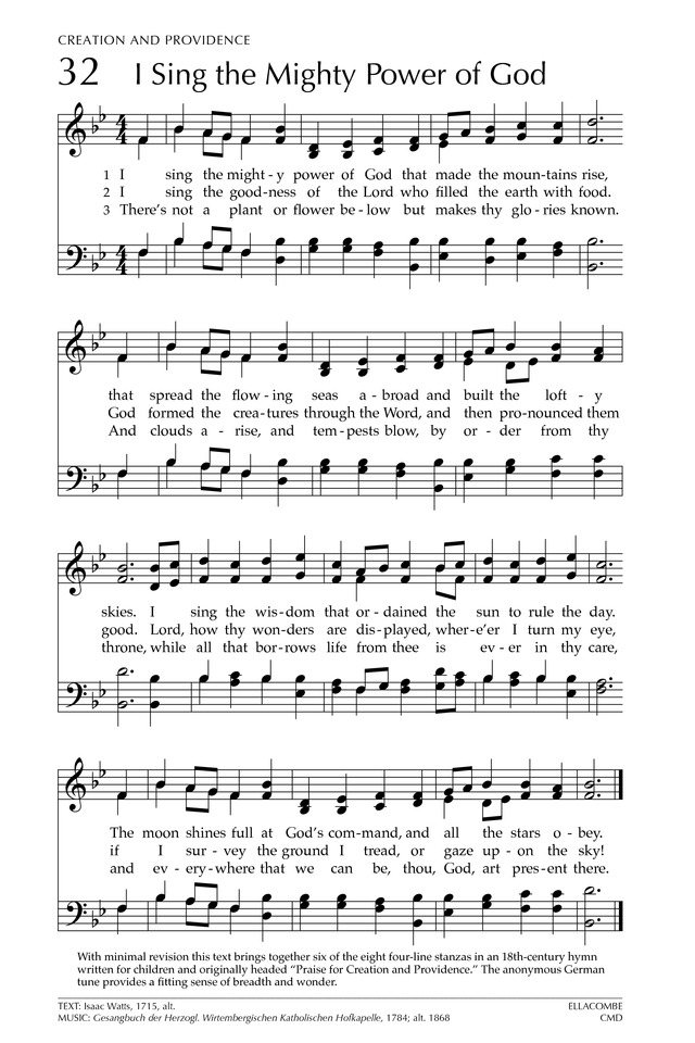 Glory to God: the Presbyterian Hymnal page 87