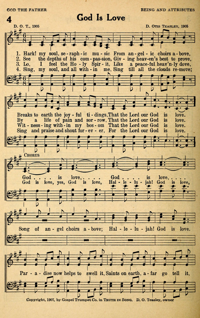 Lyric lyrics to shout to the lord : God Is Love - Hymnary.org
