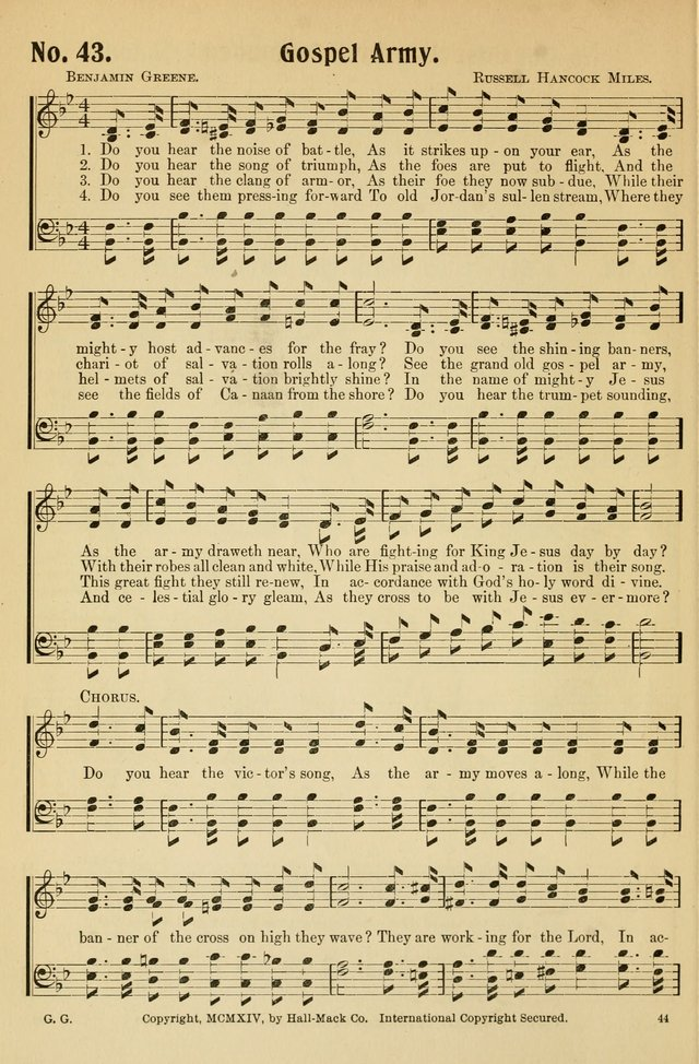 Gospel Gems Number 1 : One Hundred Eighty Sacred Selections for Religious Meetings page 42