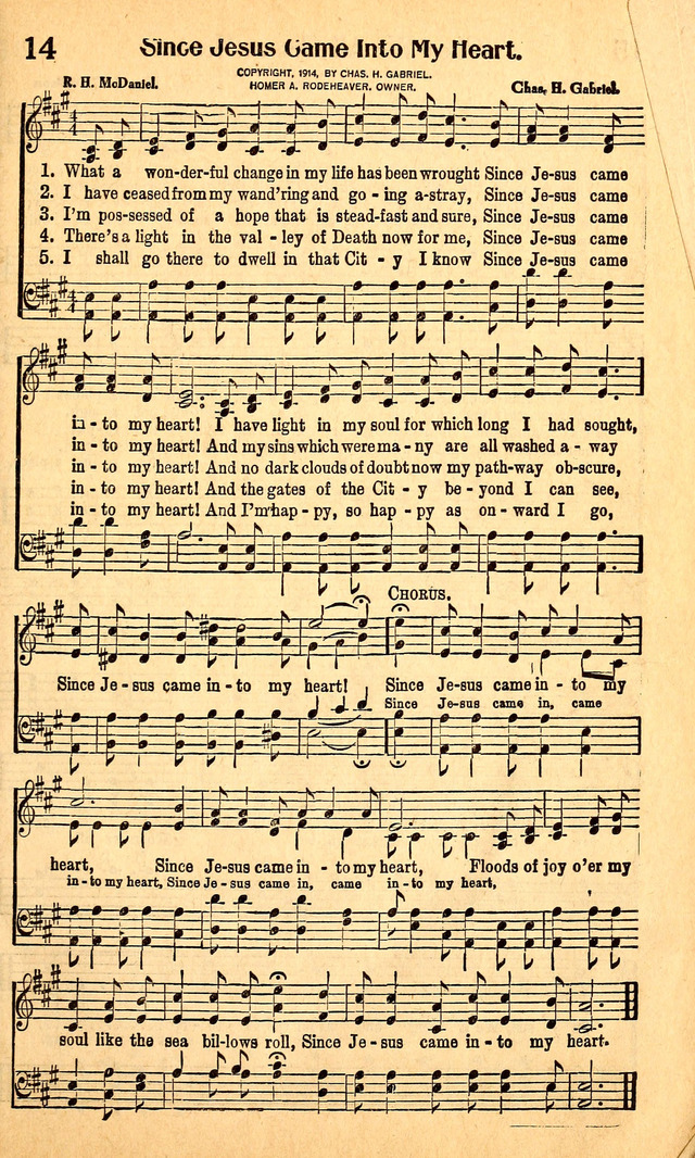 Great Gospel Songs 14  What a wonderful change in my life