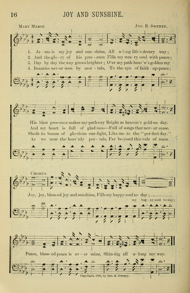 Gospel Hosannas A Choice Collection of Hymns and Tunes for use in Evangelistic, Brotherhood and Mission Meetings, Sunday School, Etc. page 16