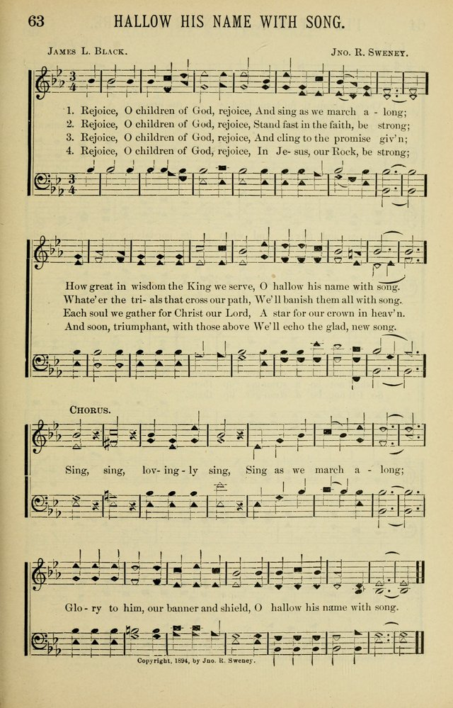 Gospel Hosannas A Choice Collection of Hymns and Tunes for use in Evangelistic, Brotherhood and Mission Meetings, Sunday School, Etc. page 63