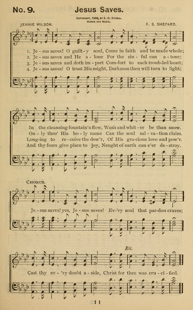 The Gospel Hymnal for Sunday school and church work page 11