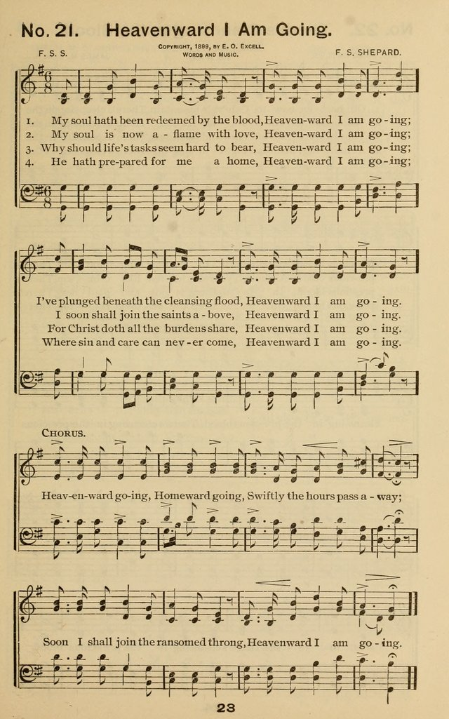 The Gospel Hymnal for Sunday school and church work page 23