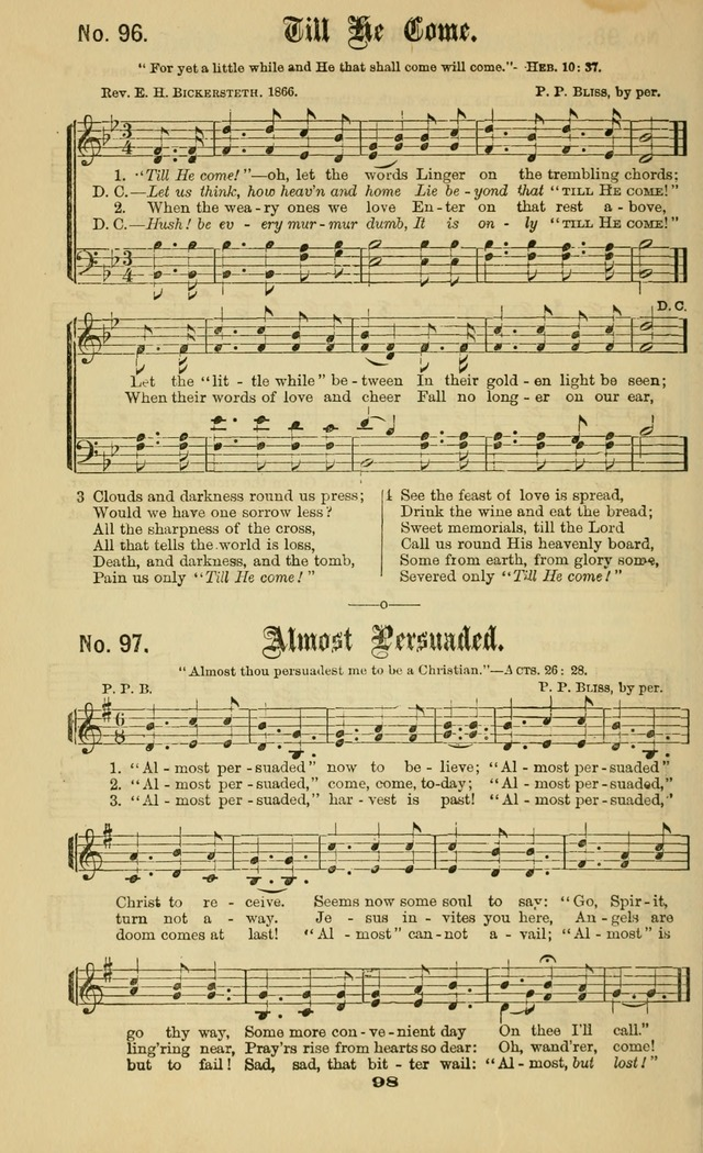 Gospel Hymns No  2: as used by them in gospel meetings page 98