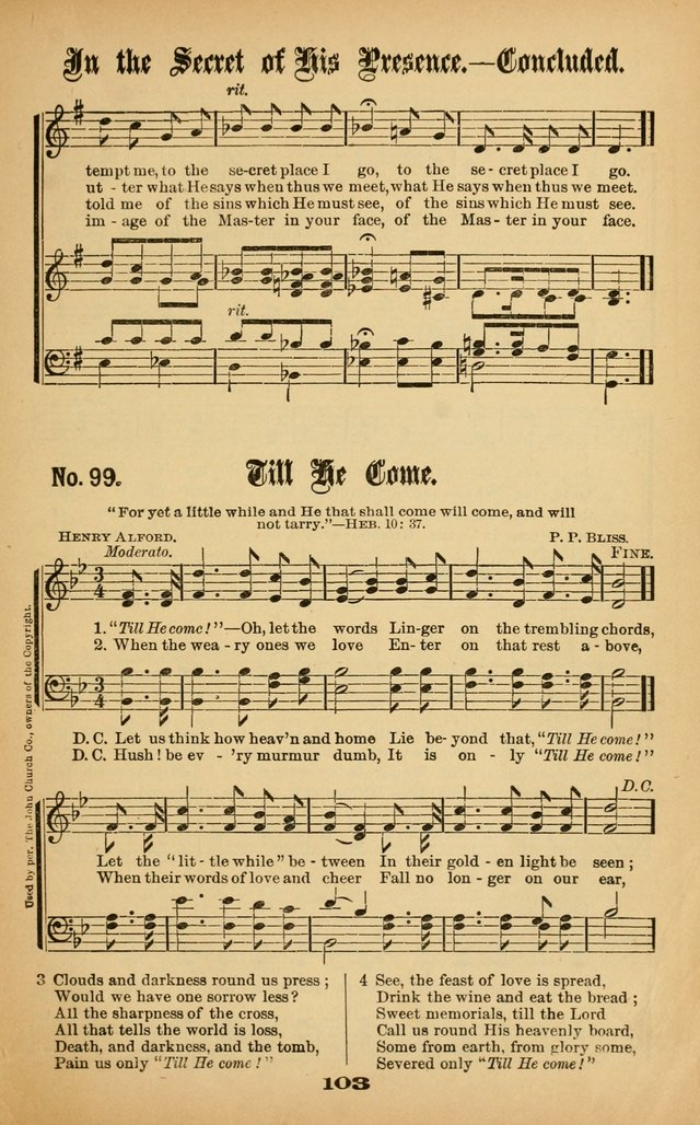 Gospel Hymns No  5 99  Till He come!—Oh, let the words | Hymnary org