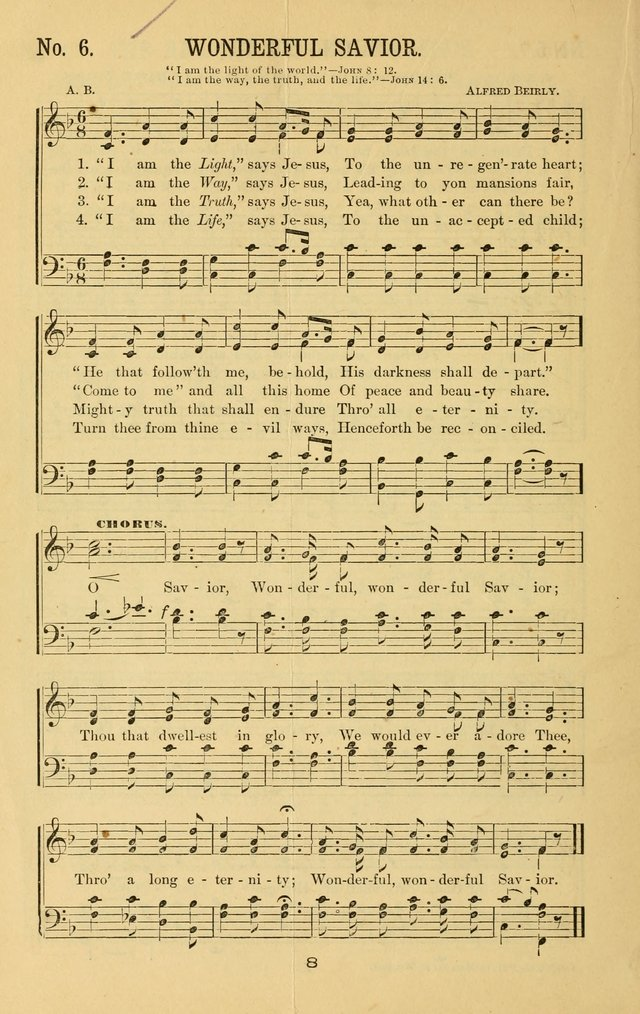 Great Joy! : a new and favorite collection of hymns and music, for gospel meetings, prayer, temperance, and camp meetings, and Sunday schools page 6