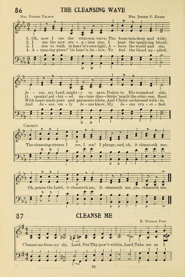 Gospel Melodies and Evangelistic Hymns page 70