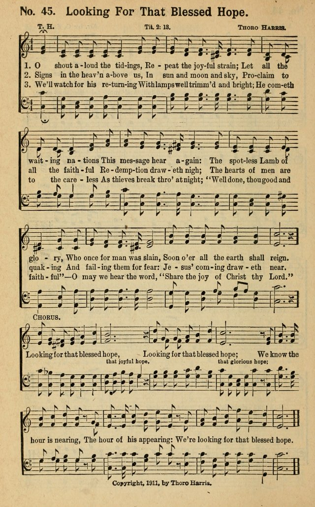 Lyric lyrics to shout to the lord : O shout aloud the tidings, repeat the joyful strain - Hymnary.org