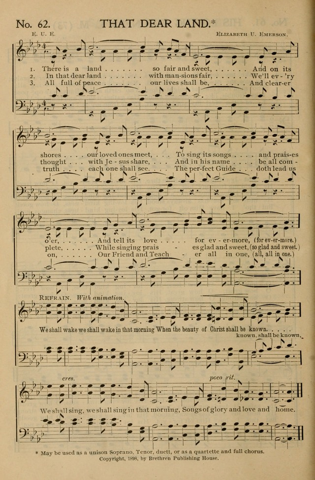 Gospel Songs and Hymns No. 1 page 62