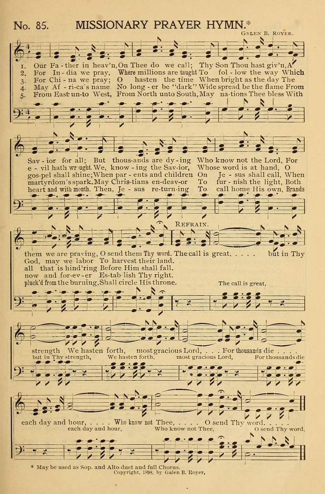 Gospel Songs and Hymns No. 1 page 85