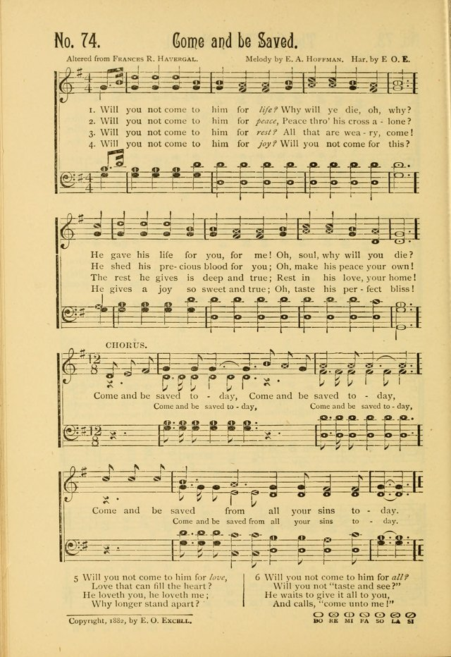The Gospel in Song, combining Sing the Gospel, Echoes of Eden, and Other Selected Songs and Solos page 74