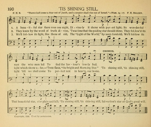 The Gospel Song Sheaf: for Sunday schools and young peoples meetings, comprising primary songs, intermediate songs, gospel and special songs, and old hymns and tunes page 190