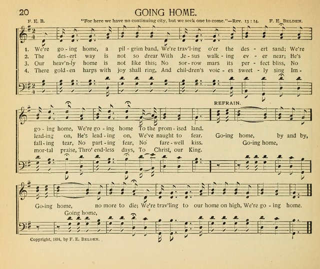 The gospel song sheaf for sunday schools and young for Old house tunes