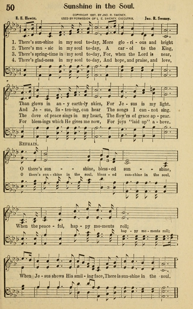 glad tidings in song 50 there s sunshine in my soul today hymnary org